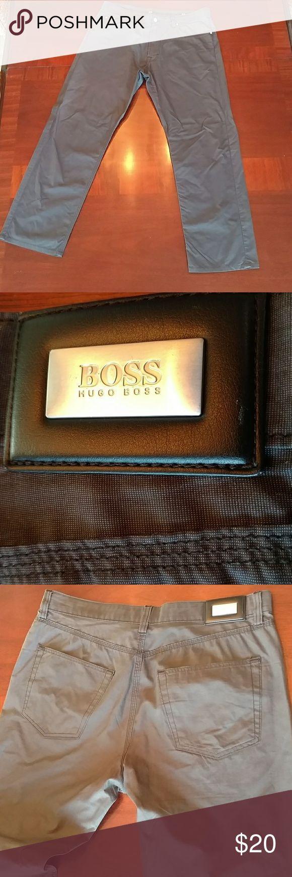 Hugo Boss  chinos 38/32 These look brand new. They are a grey straight leg Chino. Hugo Boss Pants Chinos & Khakis