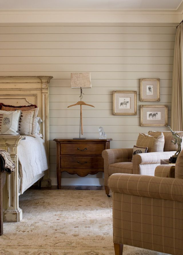 love the walls and the fabric on