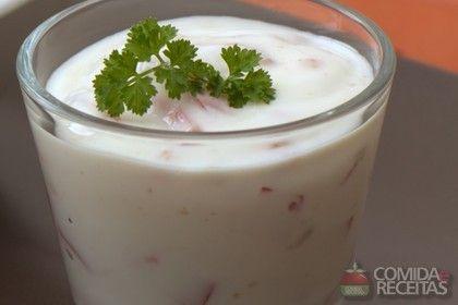 Receita de Dip de iogurte em receitas de molhos e cremes, veja essa e outras receitas aqui!