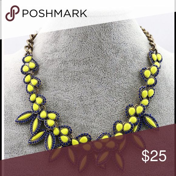 Blue and Yellow Statement Necklace Add a pop to any outfit. T&J Designs Jewelry Necklaces