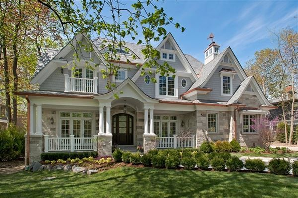 Magnificent Nantucket style home - approximately 8,400 square feet of finished space. Stone and shingle ex