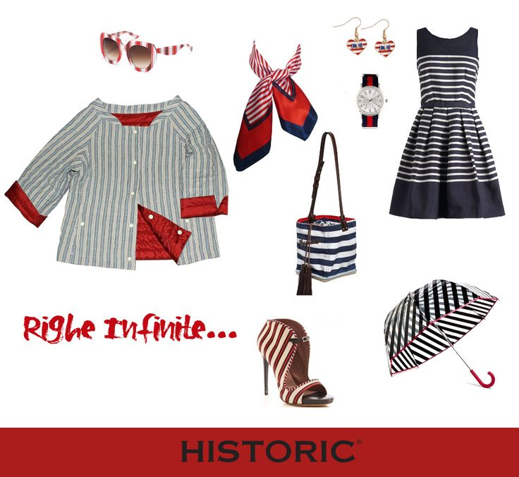 Moda a righe per la primavera estate 2015, ecco un outfit rigorosamente in fantasia rigata,  con abiti e accessori per essere impeccabilmente fashion! #fashion #modarighe #historic #womenfashion