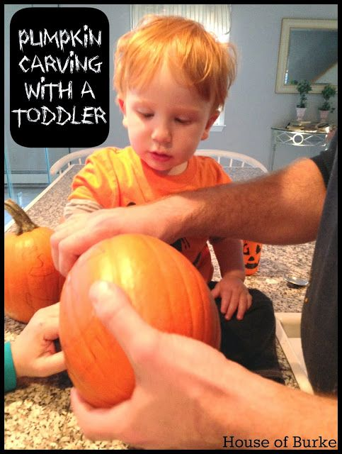 Pumpkin Carving with a Toddler - House of Burke