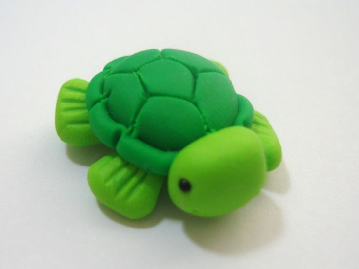 Sea Turtle Polymer Clay Charm Bead Scrapbooking by rainbowdayhappy