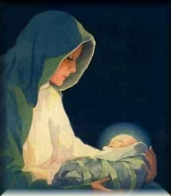 Mary and Jesus - from The Feathered Nest blog    ...artist not listed...