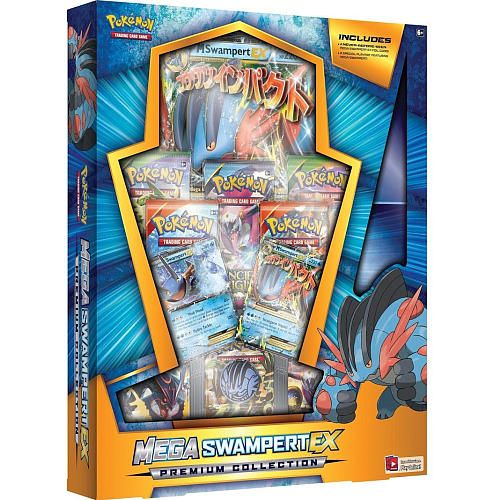 "Pokemon Trading Card Game Mega Swampert-EX or Blaziken EX Premium Collection Blind Box - Beckett Publications - Toys ""R"" Us"