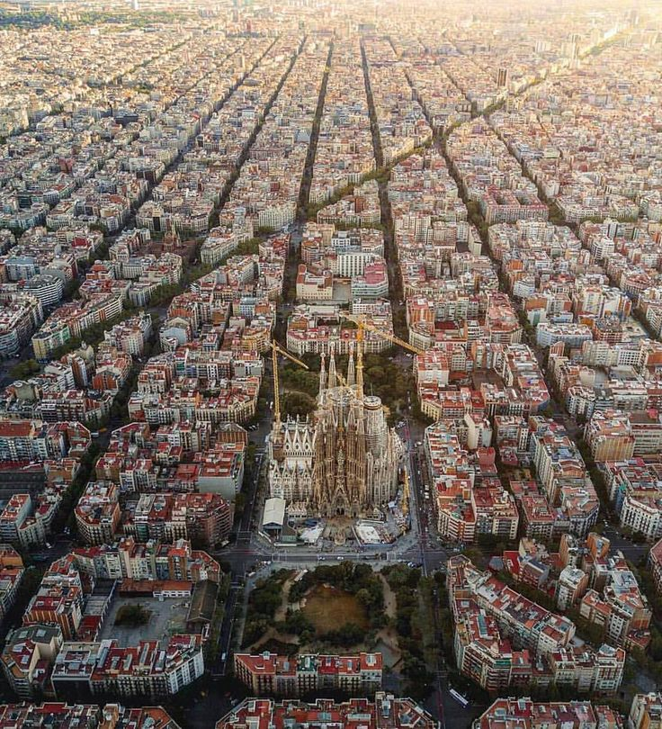 """46.4k Likes, 517 Comments - Daily Overview (@dailyoverview) on Instagram: """"Check out this incredible shot of La Sagrada Familia in Barcelona, Spain. Designed by Catalan…"""""""