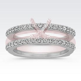 This Will Go Perfect With My Solitaire Pave Set Round Diamond Double Wedding Band
