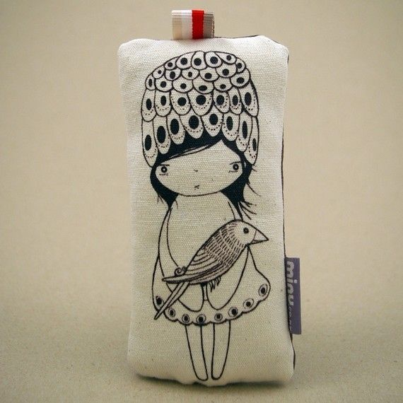 Updated Design  Lilu No. 1  2 Birds stuffed print by minu on Etsy