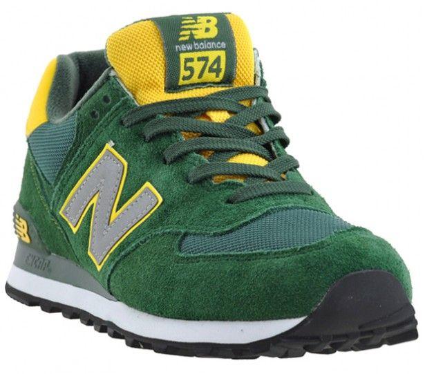 Farbenfroh und doch nicht aufdringlich präsentiert sich die neue Version des New Balance 574 und zeigt sich uns in den brasilianischen Farb...