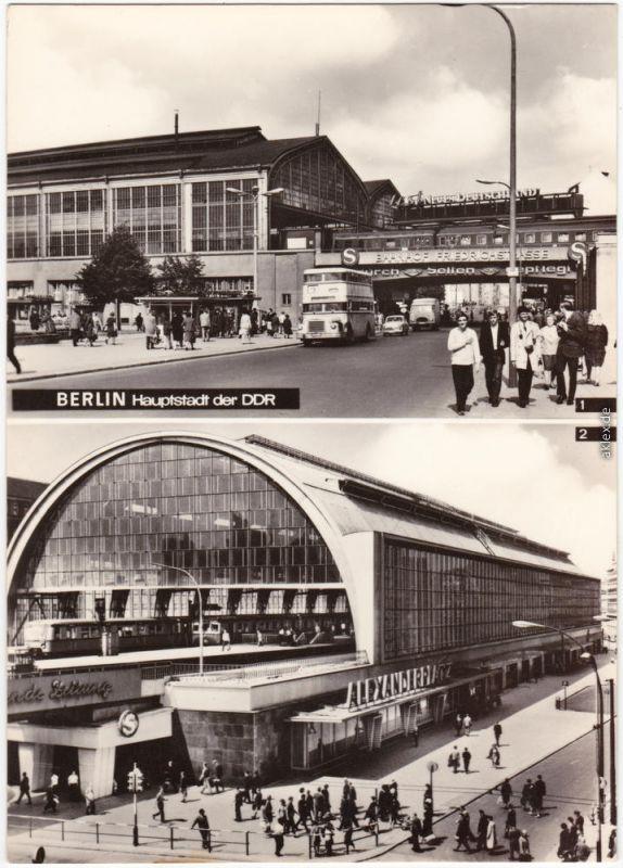 Ansichtskarte Mitte Berlin Bahnhof Friedrichstrasse Und Alexanderplatz 1968 0 Berlin Hauptstadt Friedrichstrasse Berlin Alexanderplatz