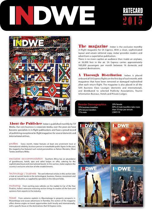 Indwe Magazine - Google+ Indwe Magazine 2015 Rate Card