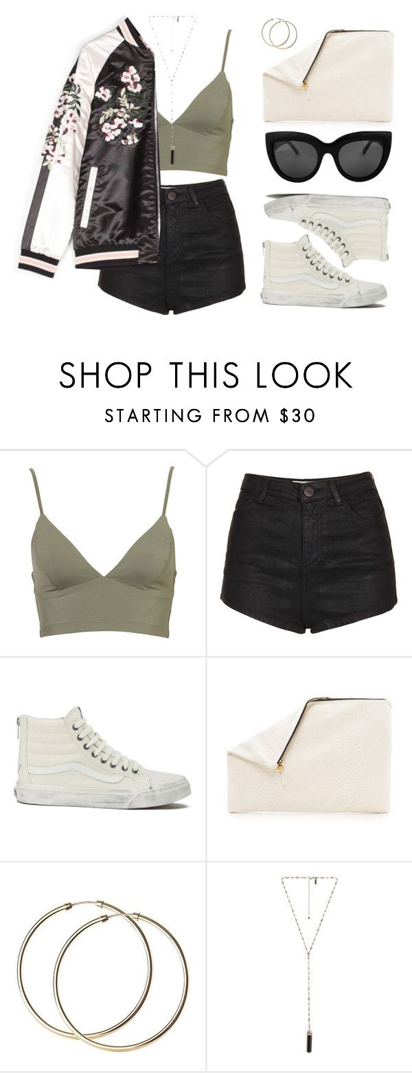 """""""This bomber tho"""" by baludna ❤ liked on Polyvore featuring Topshop, Vans, Clare V. and Natalie B"""