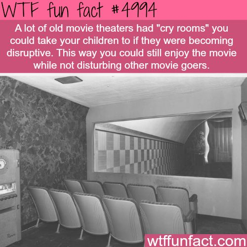 Cry Rooms for movie theater they were great.I wish they still had these