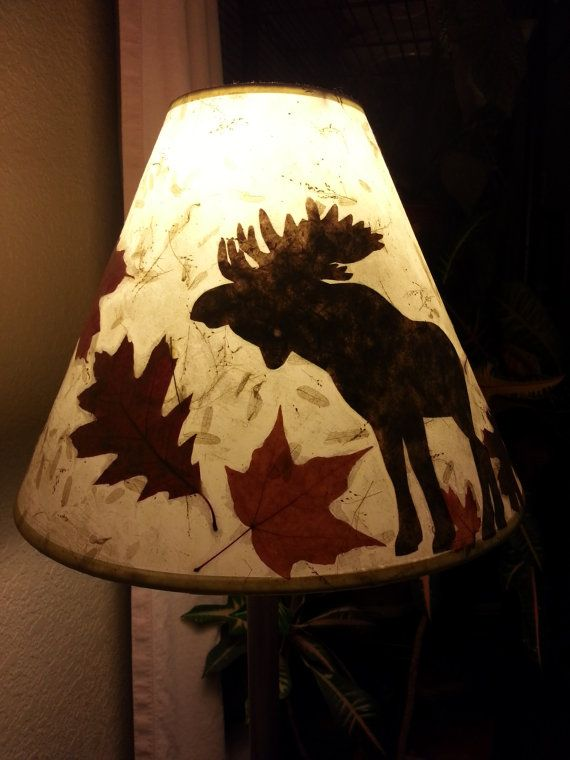 26 best moose lamp shade images on pinterest elk moose and mousse fall leaves and moose lamp shade by frostyshades on etsy mozeypictures Image collections