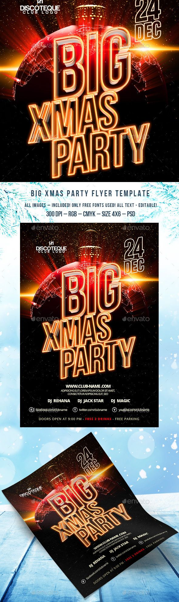 17 best images about merry christmas flyer template christmas flyer