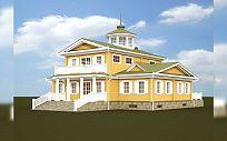 Проект деревянного дома из клееного бруса БадэнХаус, площадь 376 м2, 2 этажа, 3 спальни, фото 2