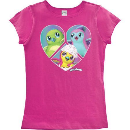 ddfe2642 Girls' Hatchimals In a Heart T-shirt, Size: 10/12, Pink | Products ...