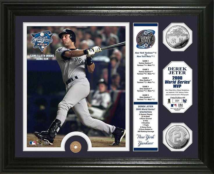 AAA Sports Memorabilia LLC - Derek Jeter 2000 World Series MVP Silver Coin and Subway Token Photo Mint, $149.99 (http://www.aaasportsmemorabilia.com/mlb/derek-jeter-2000-world-series-mvp-silver-coin-and-subway-token-photo-mint/)