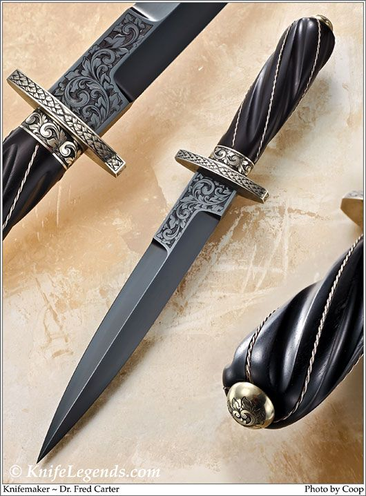 Blade Steel: Blued Mild Steel; Bolster / Guard: Nickel Silver; Handle Material: Presentation Grade Macassar Ebony