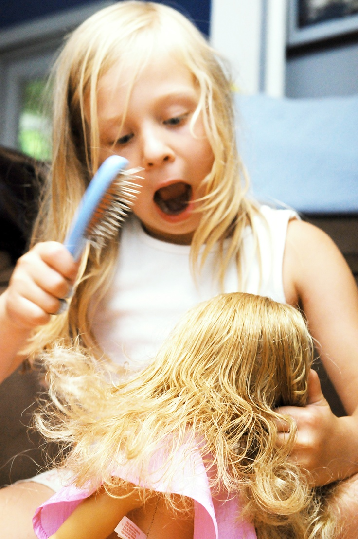 American Girl Doll Hair Fix (HILARIOUS picture!this could be me!!)