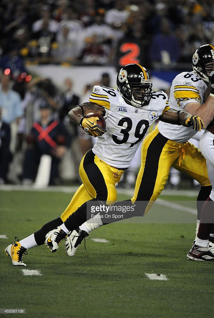 d85babc4d ... Reebok NFL Jerseys Pittsburgh Steelers 36 BETTIS BLACK Willie Parker 39 of  the Pittsburgh Steelers carries the ball against the Arizona Cardinal  during ...
