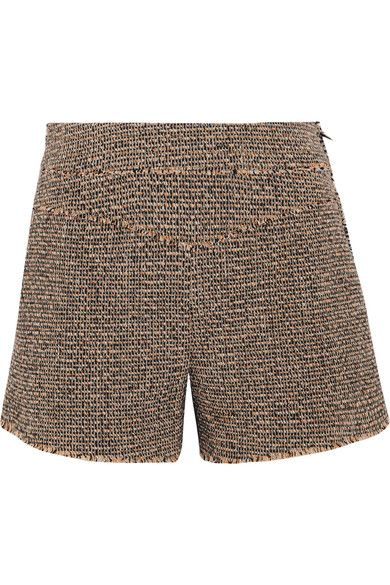 Chloé - Wool-blend Tweed Shorts - Brown - FR40