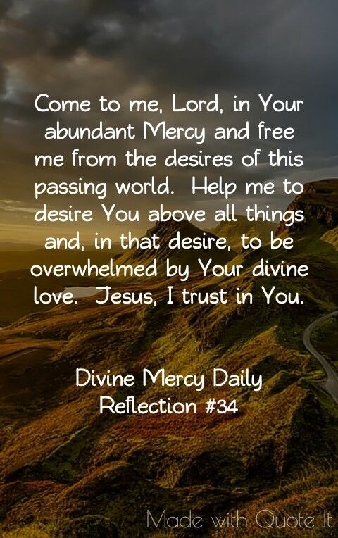 Divine Mercy Daily Reflection 34 Quotes Pinterest