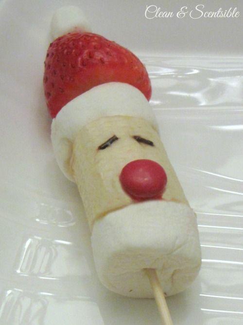 Fruit Santa Pops, pop con frutas en forma de Santa