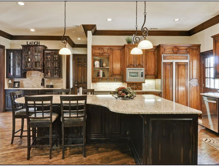 Kitchen islands with seating for 6 google search - How to design a kitchen layout with island ...