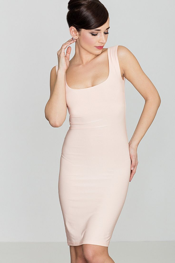 Looking for an elegant and stylish tight dress? Click here to find your best choice right away! This sexy dress is perfect for the woman who likes to emphasize her shapes and femininity. The dress is made of comfortable and high-quality fabric and perfectly fits the figure. Nice neckline and open arms, perfect for any occasion.