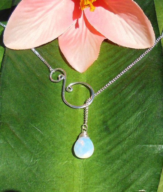 Cute!: Swirls Lariat, Diy Necklaces, 15 Gems, Wire Wraps, Silver Wire, Moonstones Necklaces, Lariat Necklaces, Wraps Gems, Handmade Jewelry