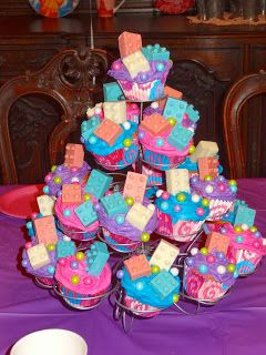 Lego Friends Birthday Party - Lego Cupcakes