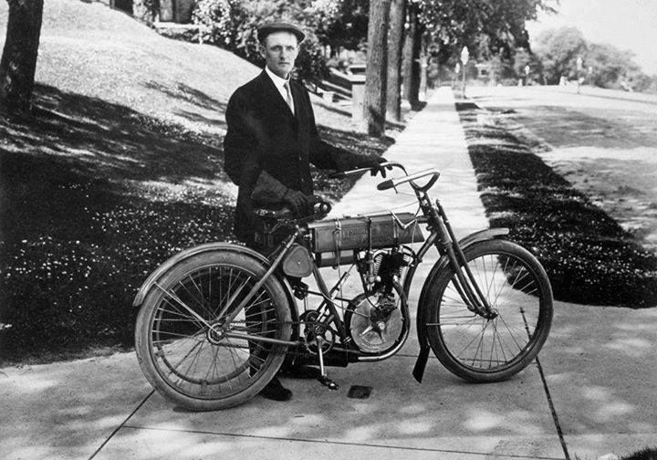 The first Harley Davidson motorcycle was made in 1903.