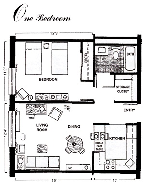 apartment layout... This is a good idea