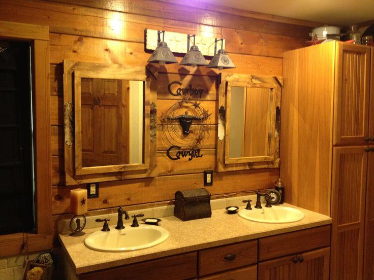 Best Rustic Bathroom Images On Pinterest Rustic Bathrooms