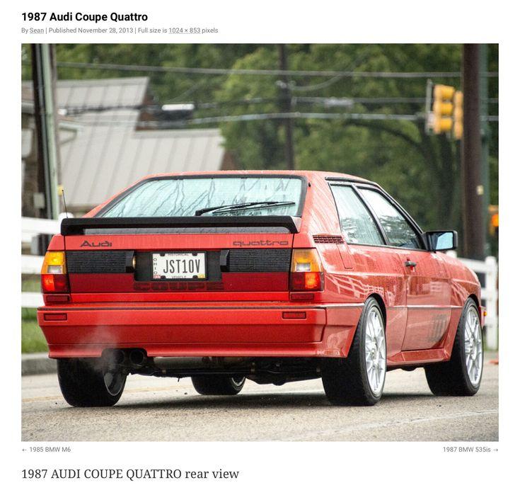 '87 AUDI Coupe  Quattro