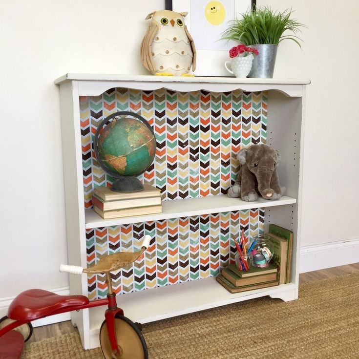 Small White Bookcase - Hip Vintage Furniture