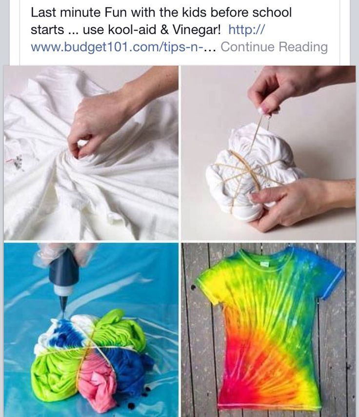 Easy homemade tie dye