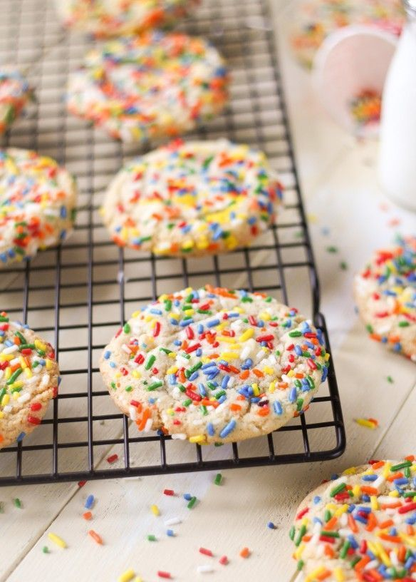 Birthday Cake Cookies recipe. Copycat from Great American Cookie Company. Tastes like Birthday Cake in cookie form!