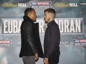 REAL COMBAT MEDIA UK: CHRIS EUBANK JR DEFENDS BRITISH TITLE AGAINST TOM DORAN AT THE O2.