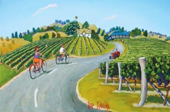 Check out Vino Velodrome by Timo Rannali at New Zealand Fine Prints