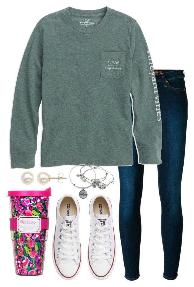 """""""Another snow day!!!!"""" by valerienwashington ❤ liked on Polyvore featuring 7 For All Mankind, Converse, Honora, Alex and Ani, Lilly Pulitzer, women's clothing, women's fashion, women, female and woman"""