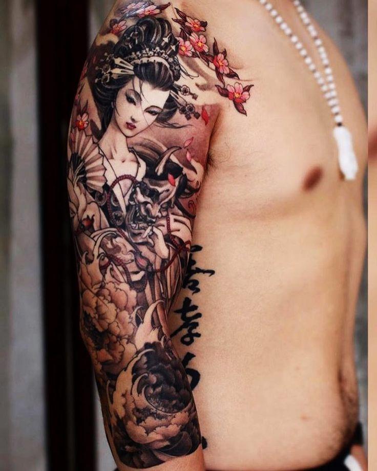 die besten 25 traditionelle japanische tattoos ideen auf pinterest japanische. Black Bedroom Furniture Sets. Home Design Ideas
