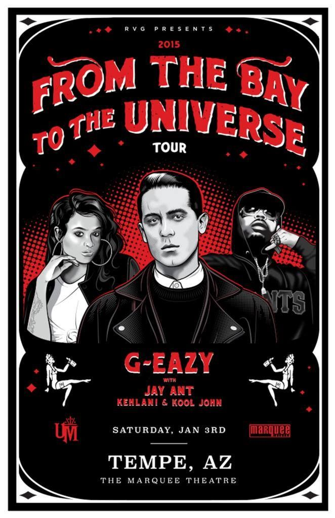 BUY TICKETS NOW TO SEE G-EAZY AT THE MARQUEE! http://www.thearizonareview.com/g-eazy-from-the-bay-to-the-universe-tour-coming-to-tempe-arizona/