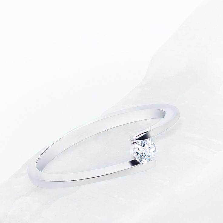 Solitario oro y diamantes de Argyor perfecto como anillo de compromiso.