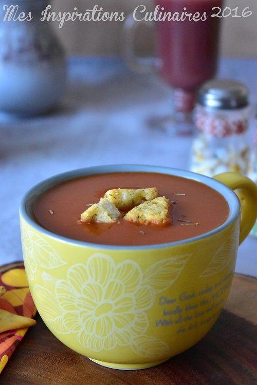 Soupe de tomate fraîche crémeuse