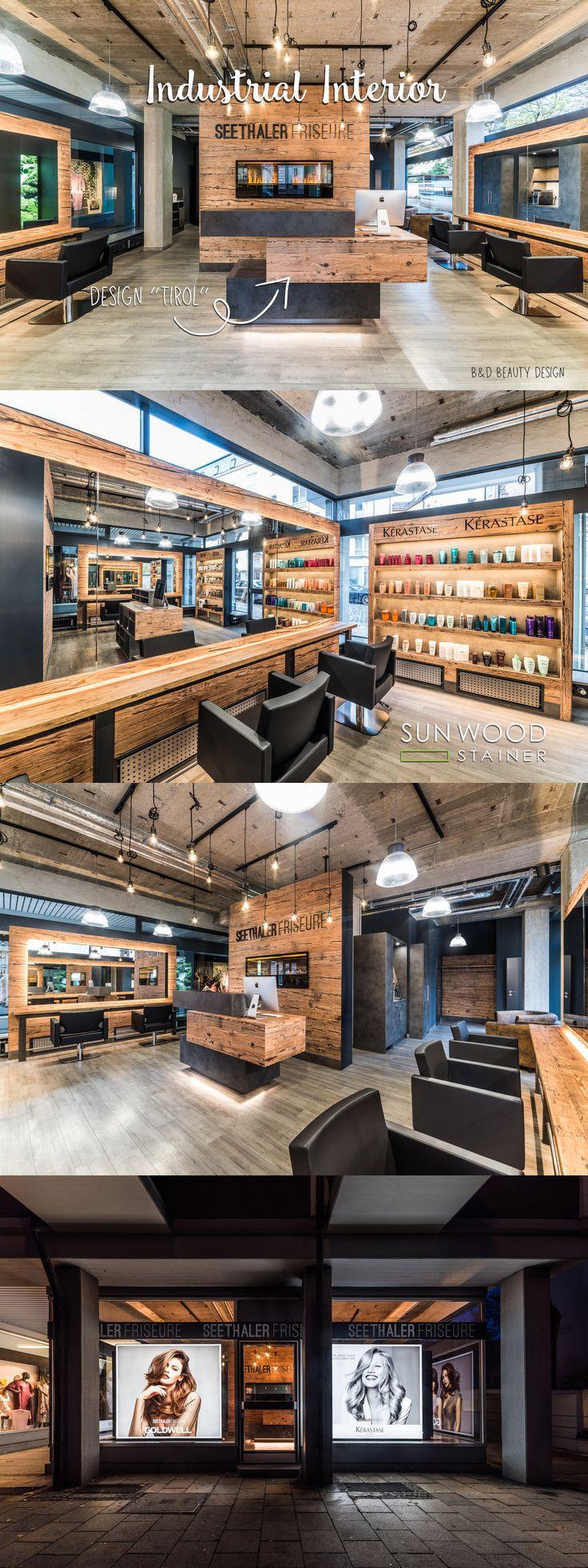 Holzdesign Interior, Einrichtungsideen, Frisörsaloon, Altholz, Used Look, Inter…