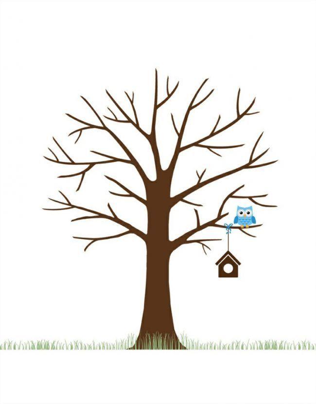 Diy Fingerprint Tree Poster Instant Download