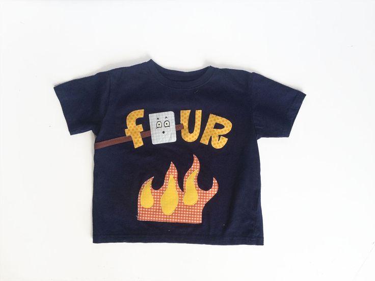 Any Age Birthday Toasted Marshmallow Camping Birthday Shirt by kakabaka on Etsy https://www.etsy.com/listing/190188513/any-age-birthday-toasted-marshmallow